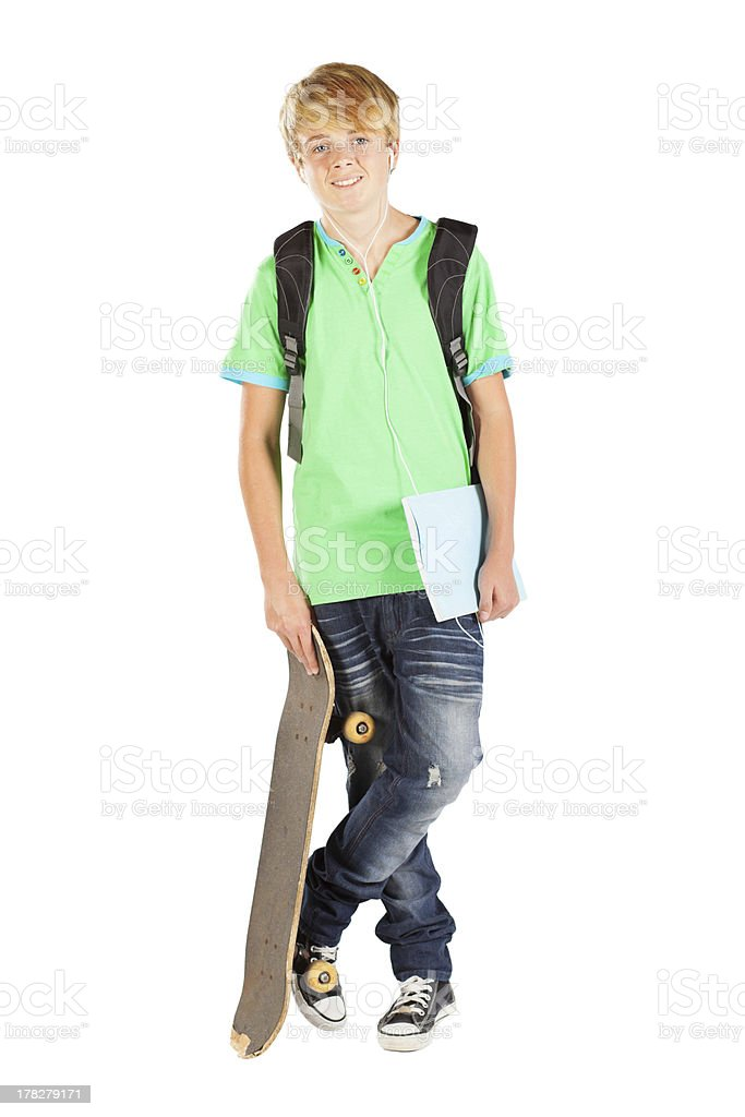 male teen student royalty-free stock photo