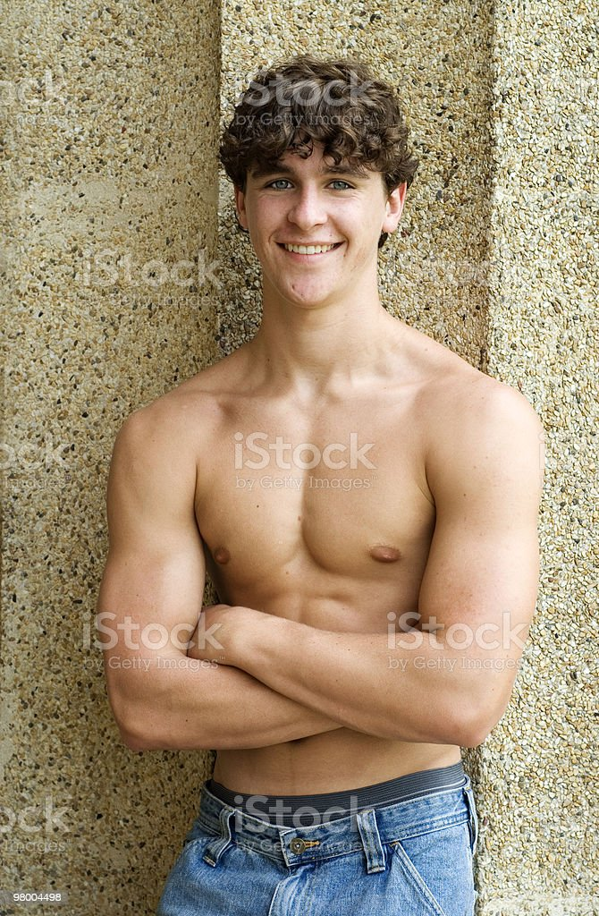 Male Teenage Bodybuilder royalty-free stock photo
