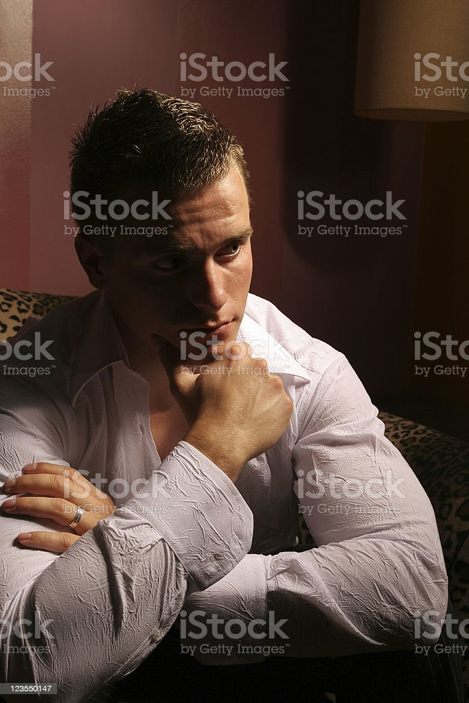 Male thinking royalty-free stock photo