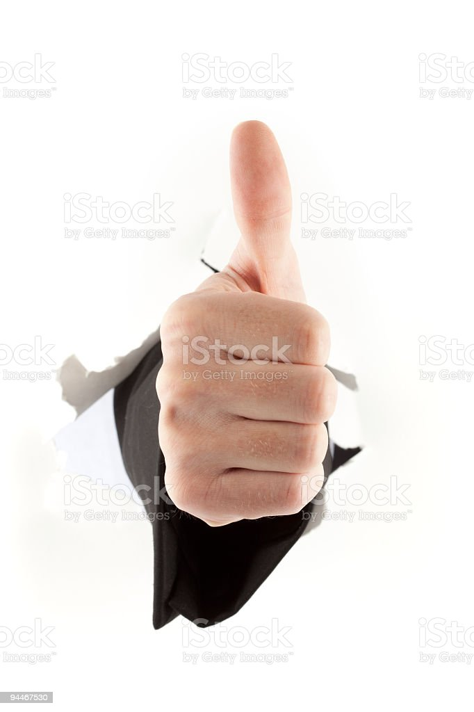 male thumb up royalty-free stock photo