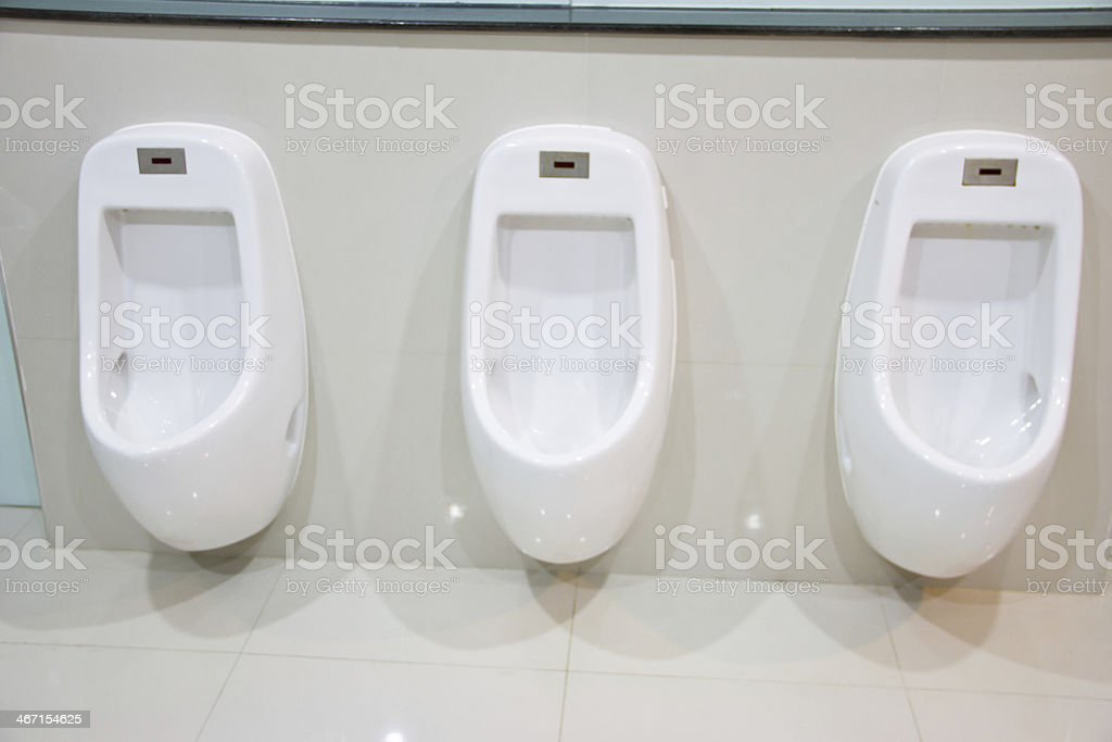 male Toilet Urinals royalty-free stock photo