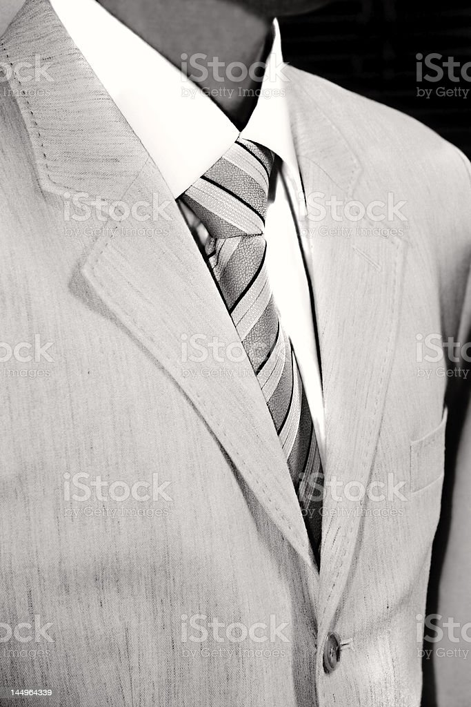 male torso in formal suite royalty-free stock photo