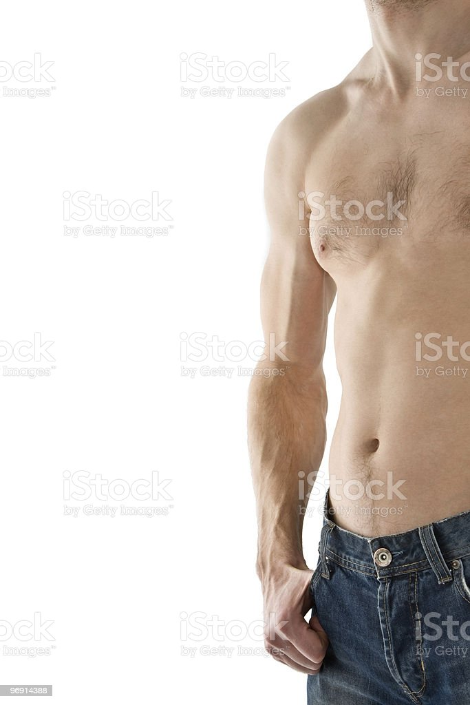 male torso isolated on white royalty-free stock photo