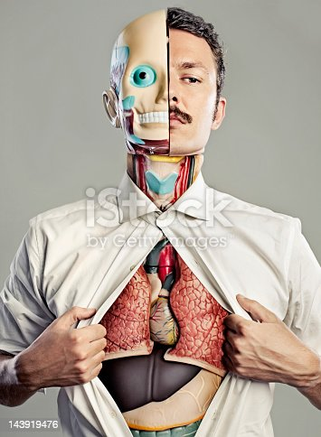 istock Male torso with internal organs visible 143919476