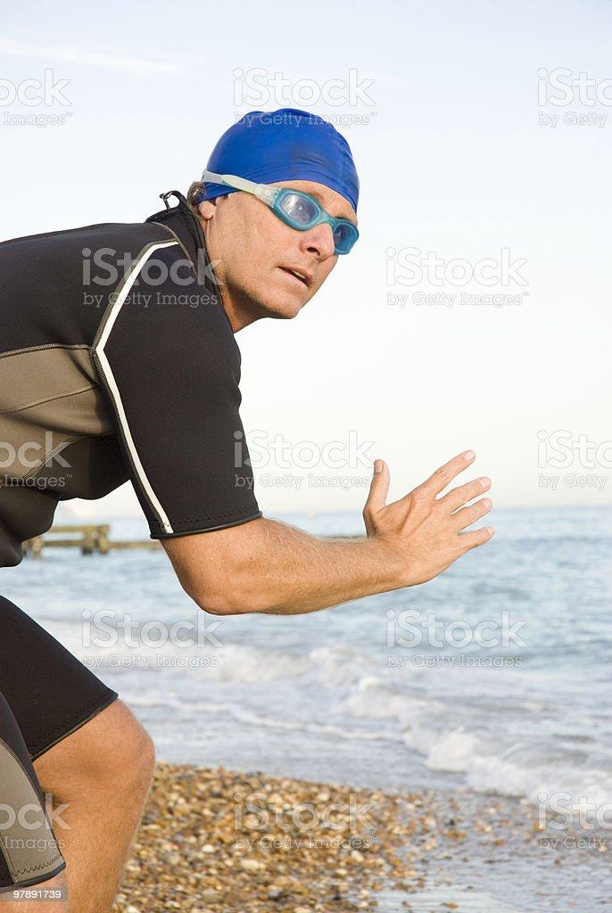 Male Triathlete royalty-free stock photo