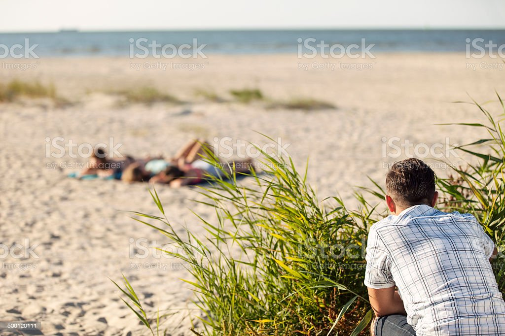 Beach free photo voyeur