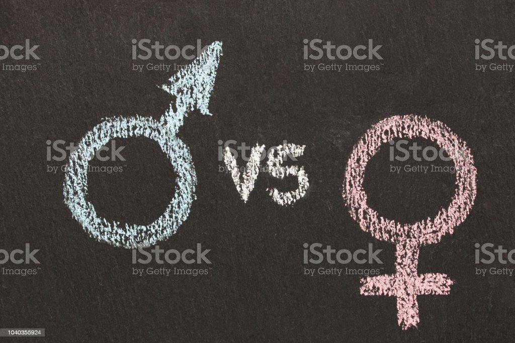 Male Vs Female Symbol Sign Gender Wars Concept Stock Photo More