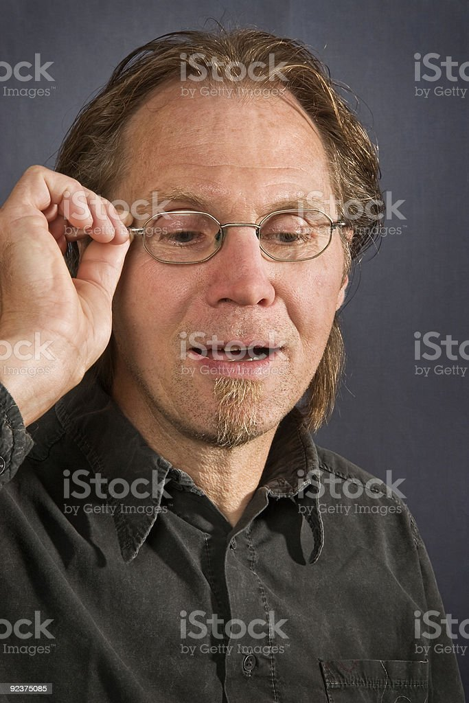 Male wearing glasses royalty-free stock photo