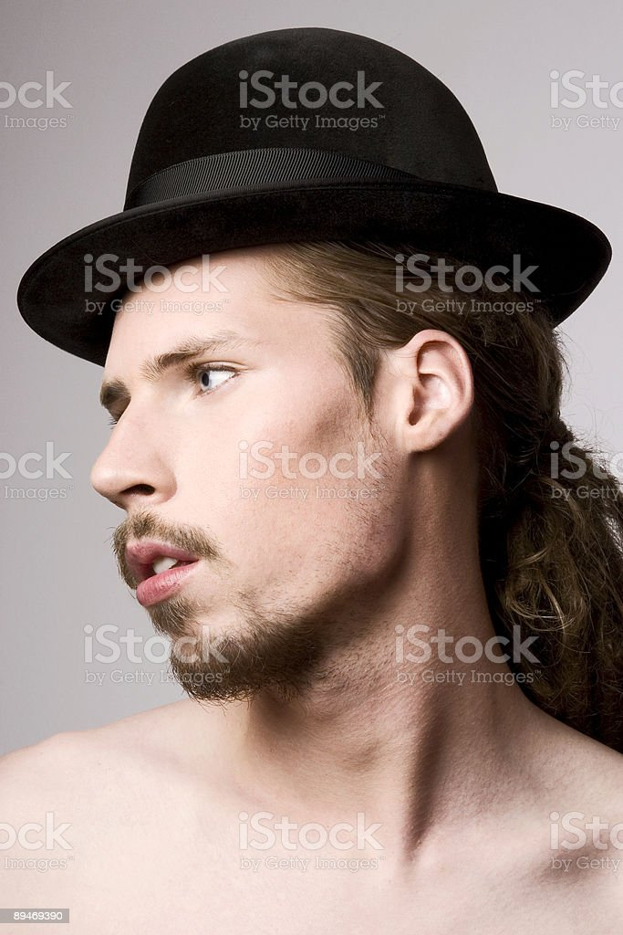 Male with hat royalty free stockfoto