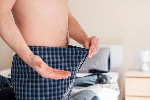 Male with sex problem and impotence concept stock photo