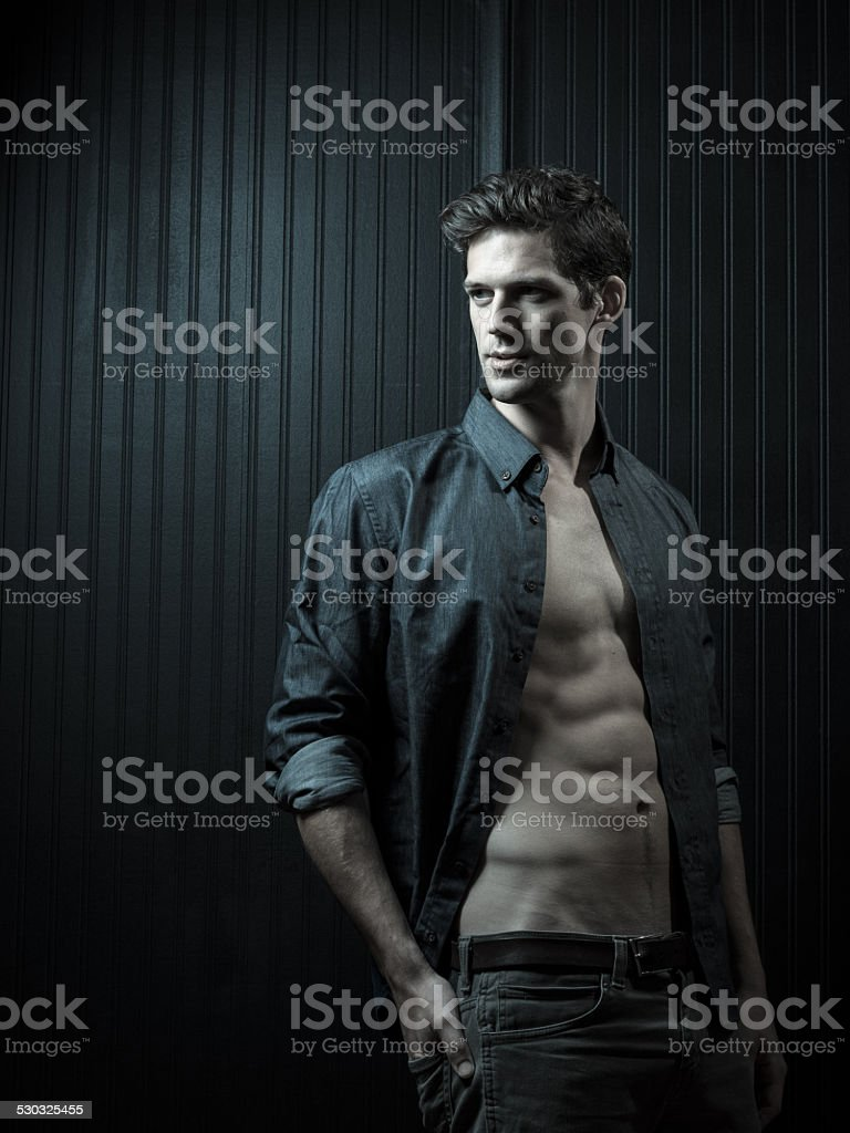 Male With Strong Jawline stock photo