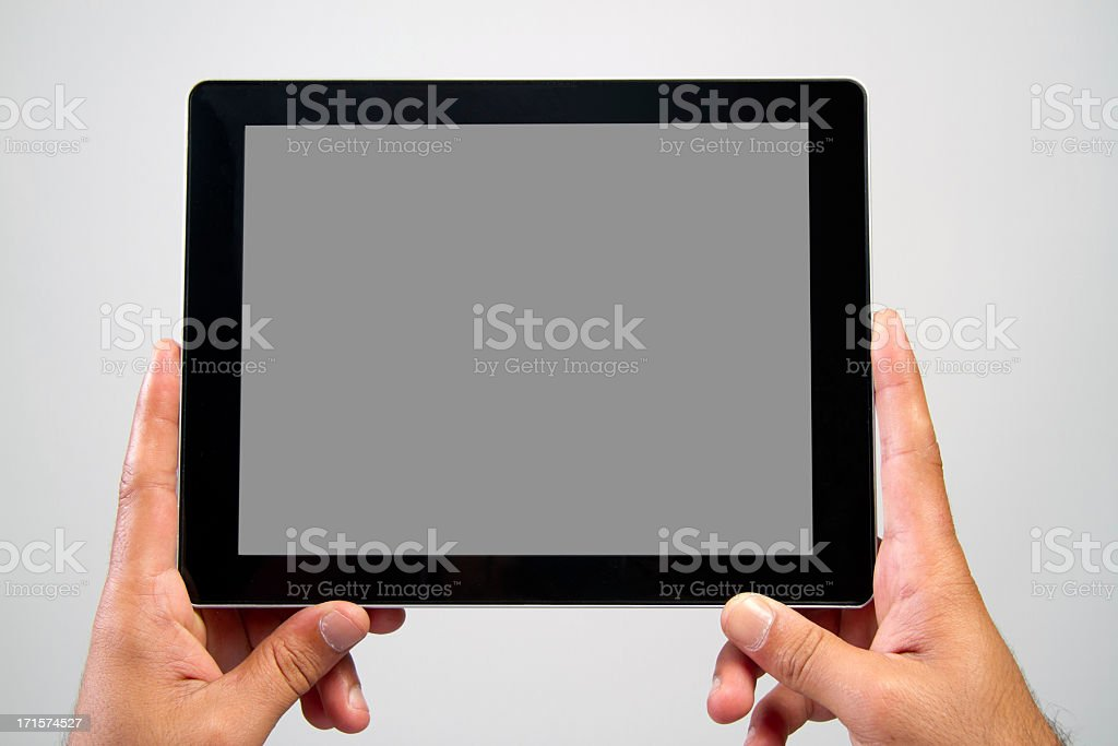 Male with tablet computer royalty-free stock photo