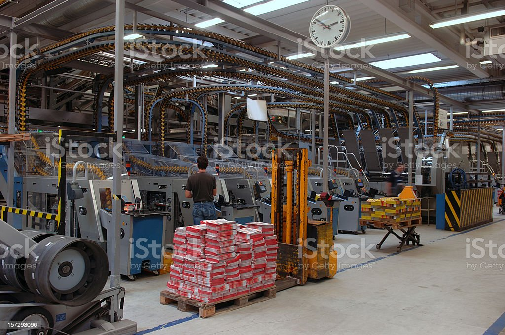 Male worker at a packing machine #2 royalty-free stock photo