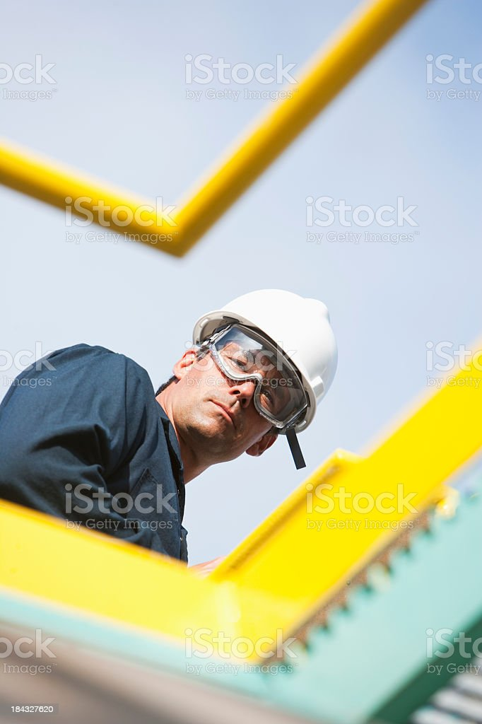 Male worker at industrial plant royalty-free stock photo