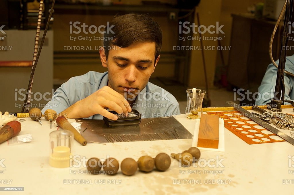 Male Worker in Turkish Jewelry royalty-free stock photo