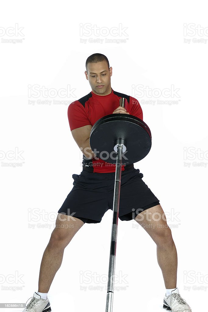 Male working out  with barbell royalty-free stock photo