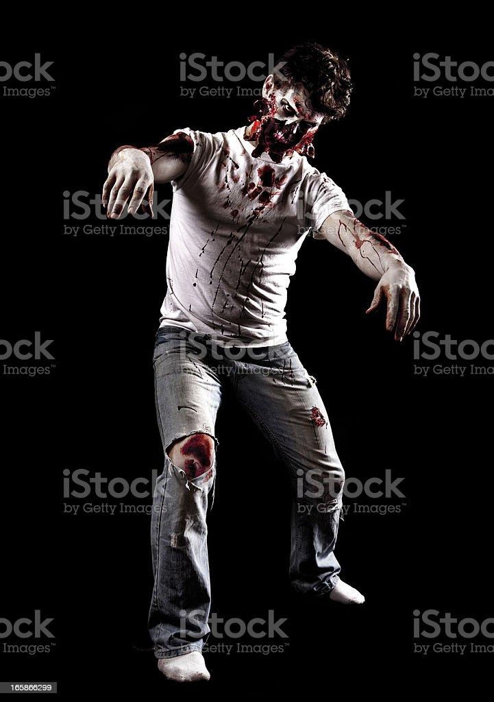 Male Zombie Walking stock photo