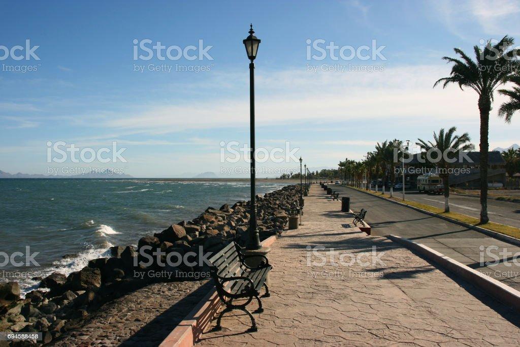 Malecon in Loreto, Baja California Sur, Mexico stock photo