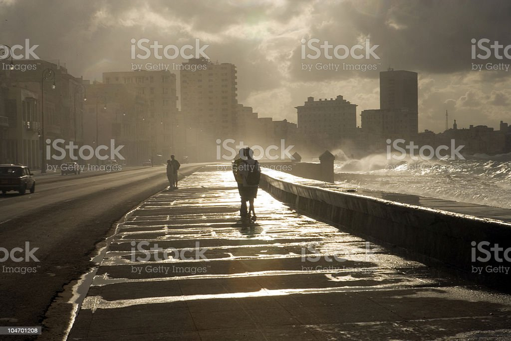 Malecon Lovers royalty-free stock photo