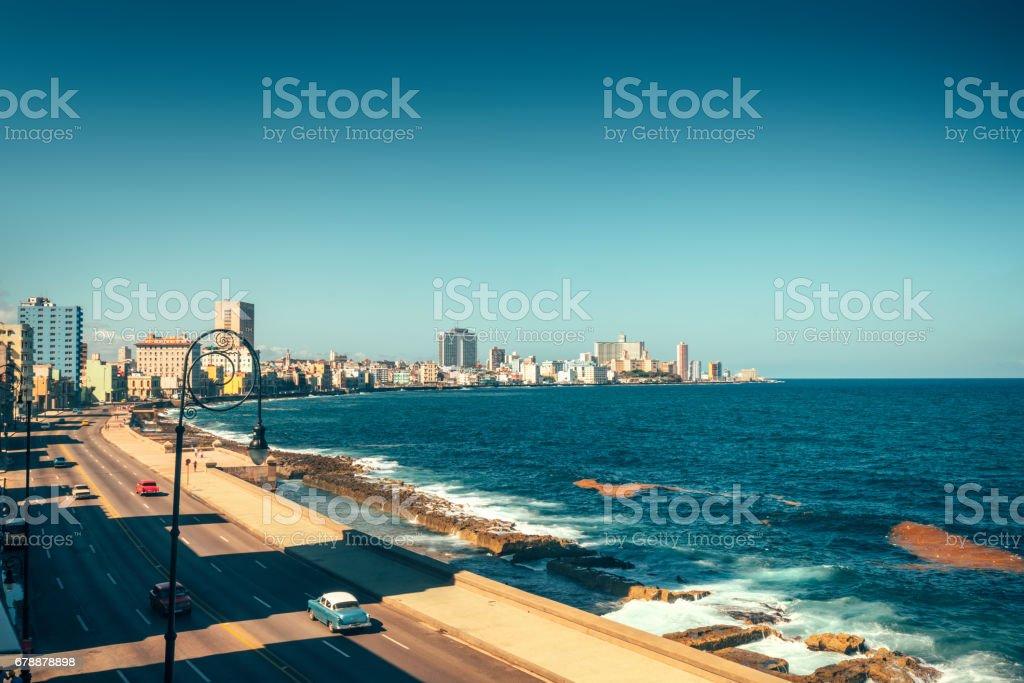 Malecon Promenade, Havana, Cuba royalty-free stock photo