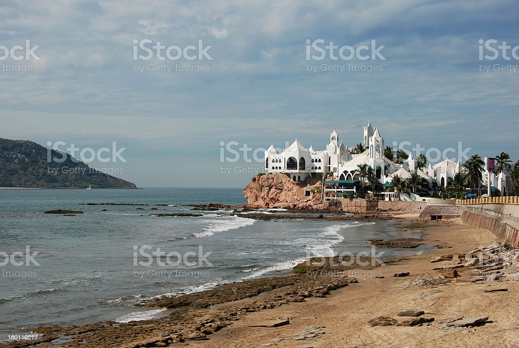 Malecon waterfront in Mazatlan stock photo