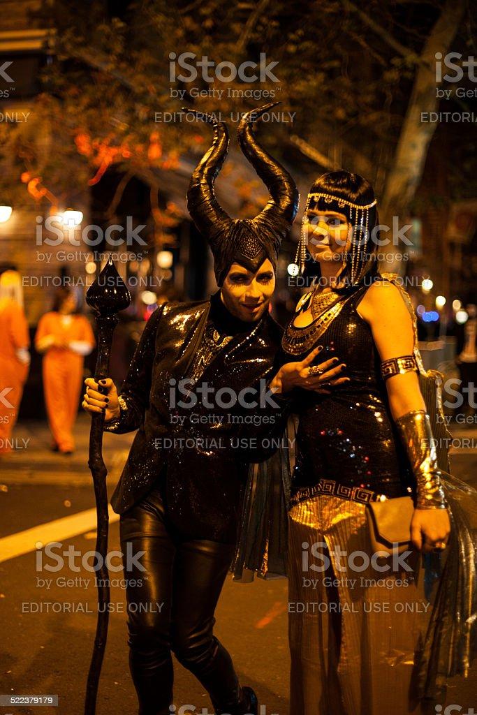 말레피센트 Cleopatra 커플입니다 코스프레 할로윈 2014 Nyc