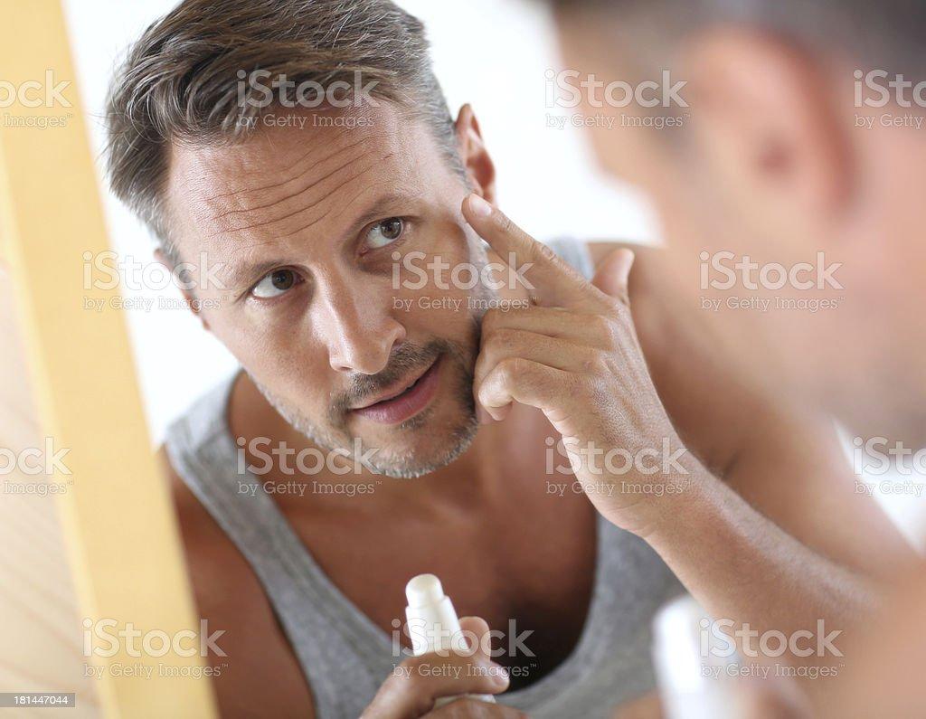 Male's cosmetics stock photo