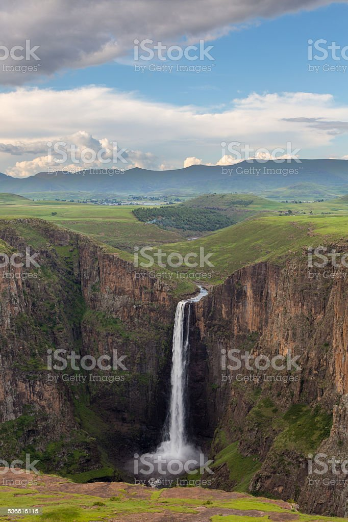 Maletsunyane Falls stock photo