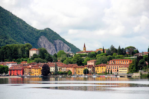 malgrate, provincie lecco, italië - lecco lombardije stockfoto's en -beelden