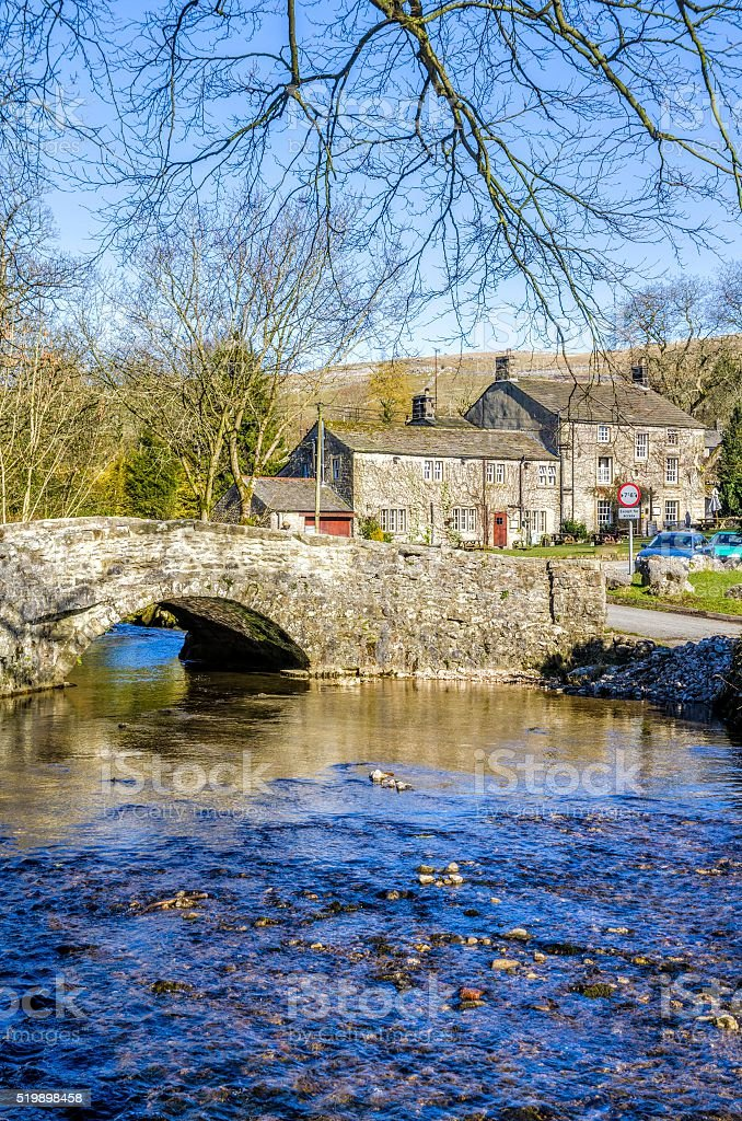 Malham village in North Yorkshire stock photo