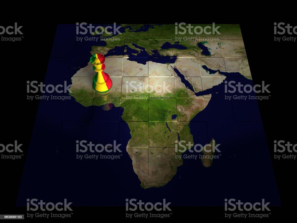 Mapa de xadrez do Mali - foto de acervo