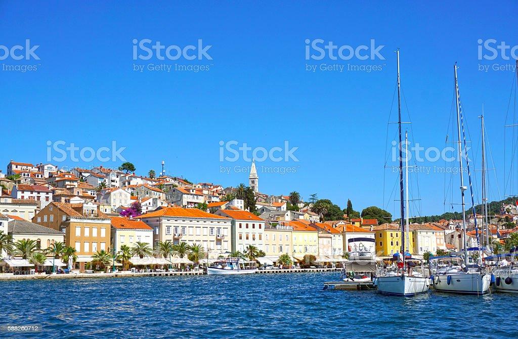 Mali Losinj. Island. Croatia, Adriatic coast. Old Mediterranean town. stock photo