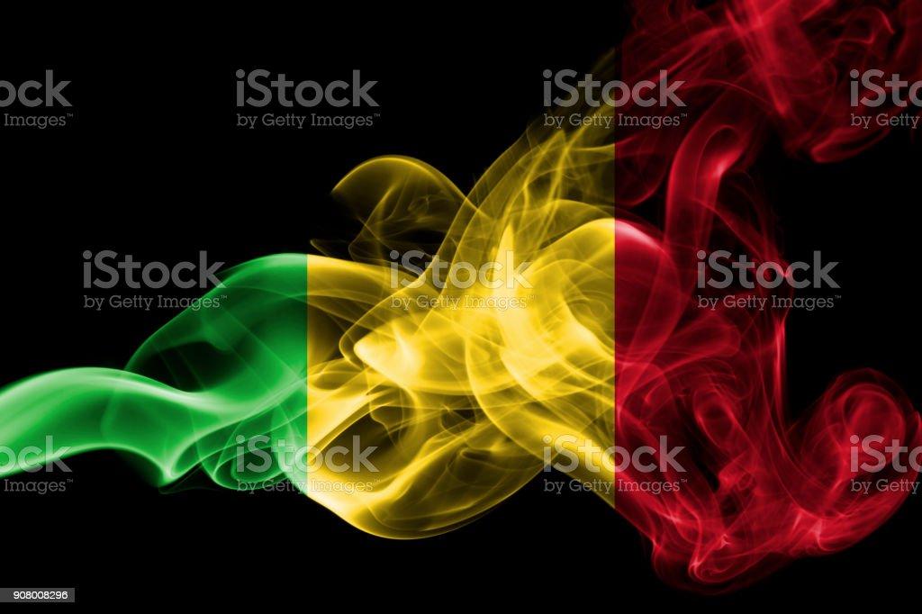 Bandeira de Mali fumaça - foto de acervo