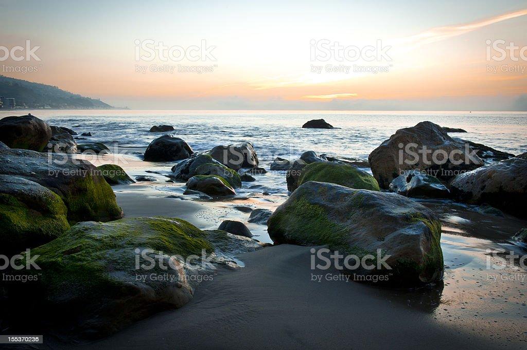 Malibu Beach at Sunrise royalty-free stock photo