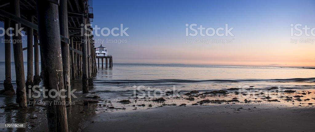 Malibu Beach Sunset royalty-free stock photo