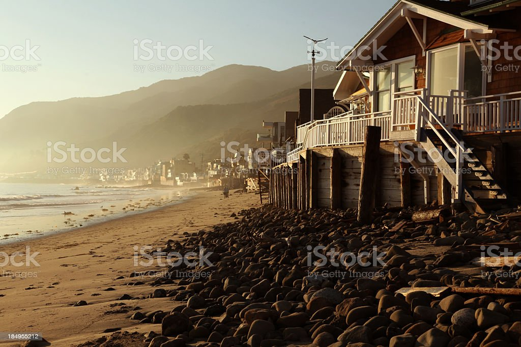 Malibu Topanga Beach Sunset stock photo