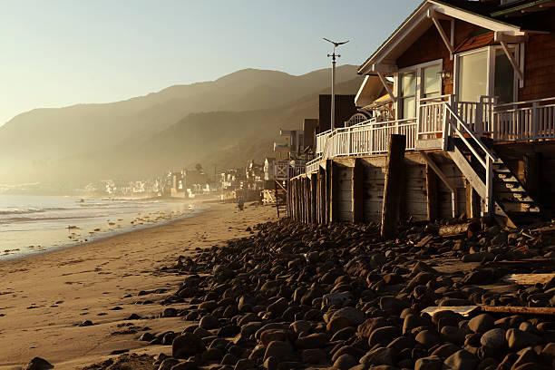 Malibu Topanga Beach Sunset stock photo