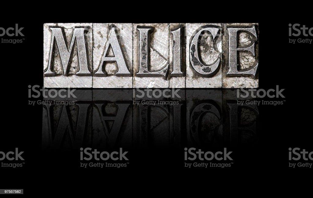 Malice royalty-free stock photo
