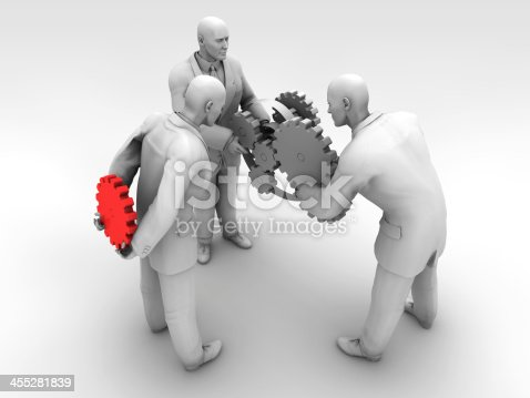 The business world is ruthless / 3D Illustration