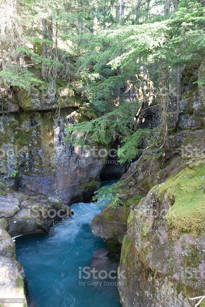 Maligne Canyon in Jasper - Stock image stock photo