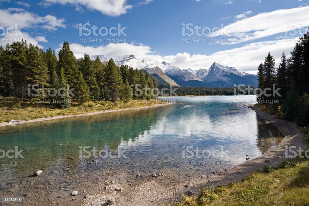 Maligne Lake, Jasper National Park, Alberta, Canada royalty-free stock photo