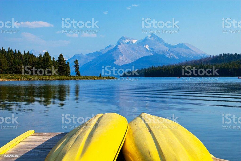 Maligne lake, Jasper National Park, Canada royalty-free stock photo