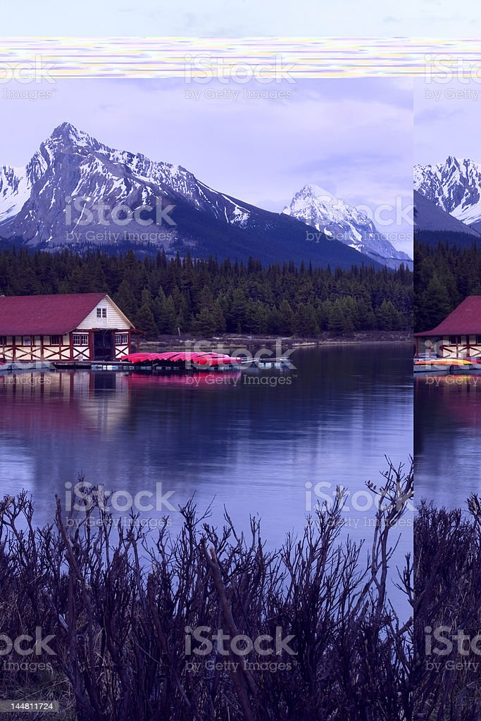 Maligne lake royalty-free stock photo