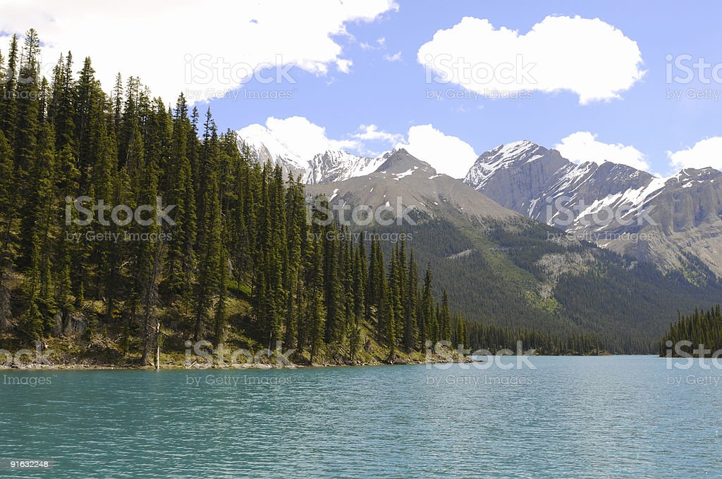 Maligne Lake royalty-free stock photo