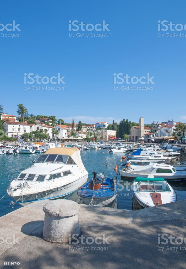 Malinska-Dubasnica,Krk,adriatic Sea,Croatia stock photo
