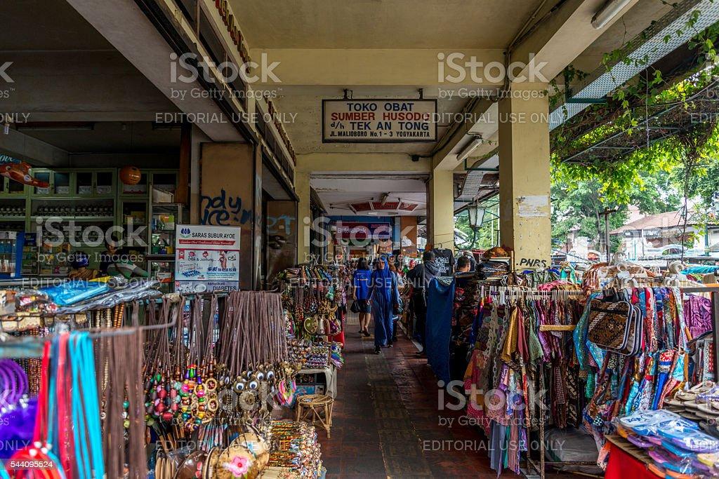 Malioboro street Jogyakarta Market stock photo