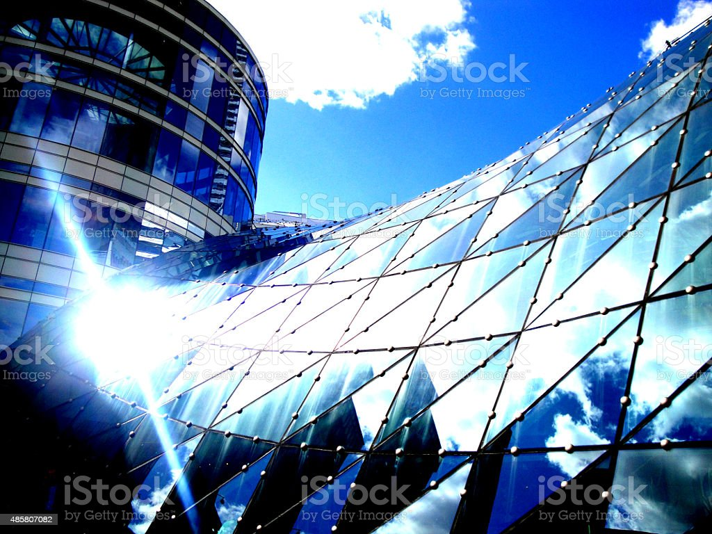 Mall in Warsaw royalty-free stock photo