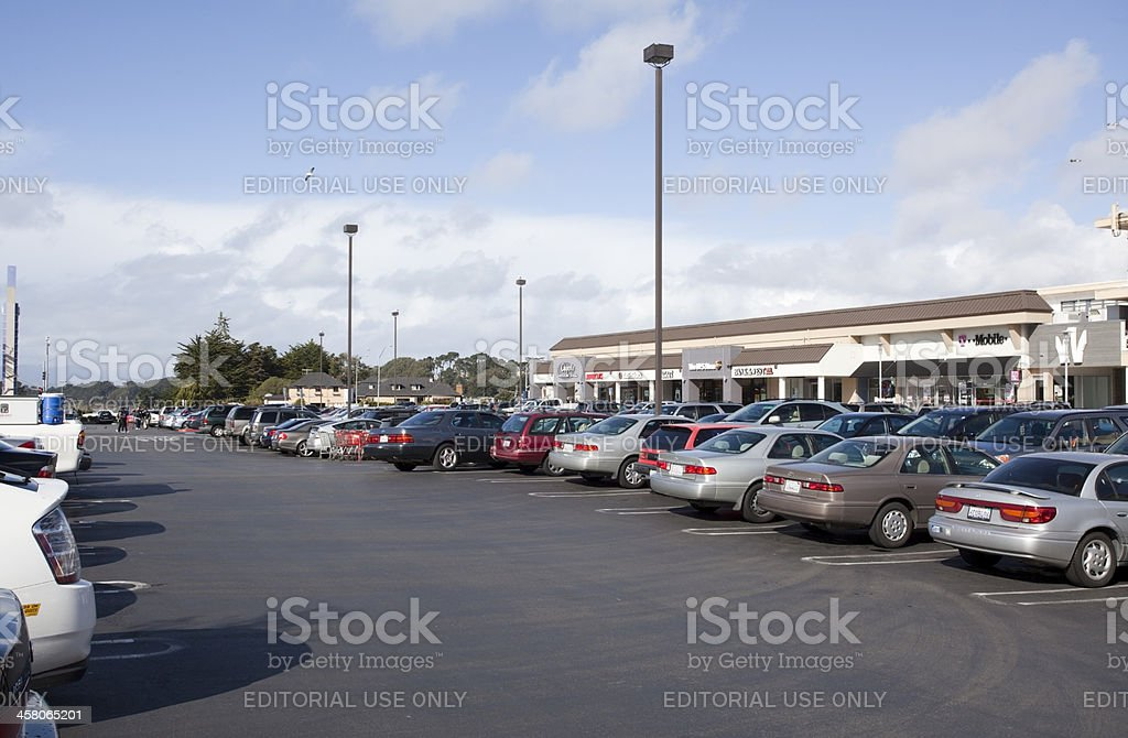 Mall Parking Lot stock photo