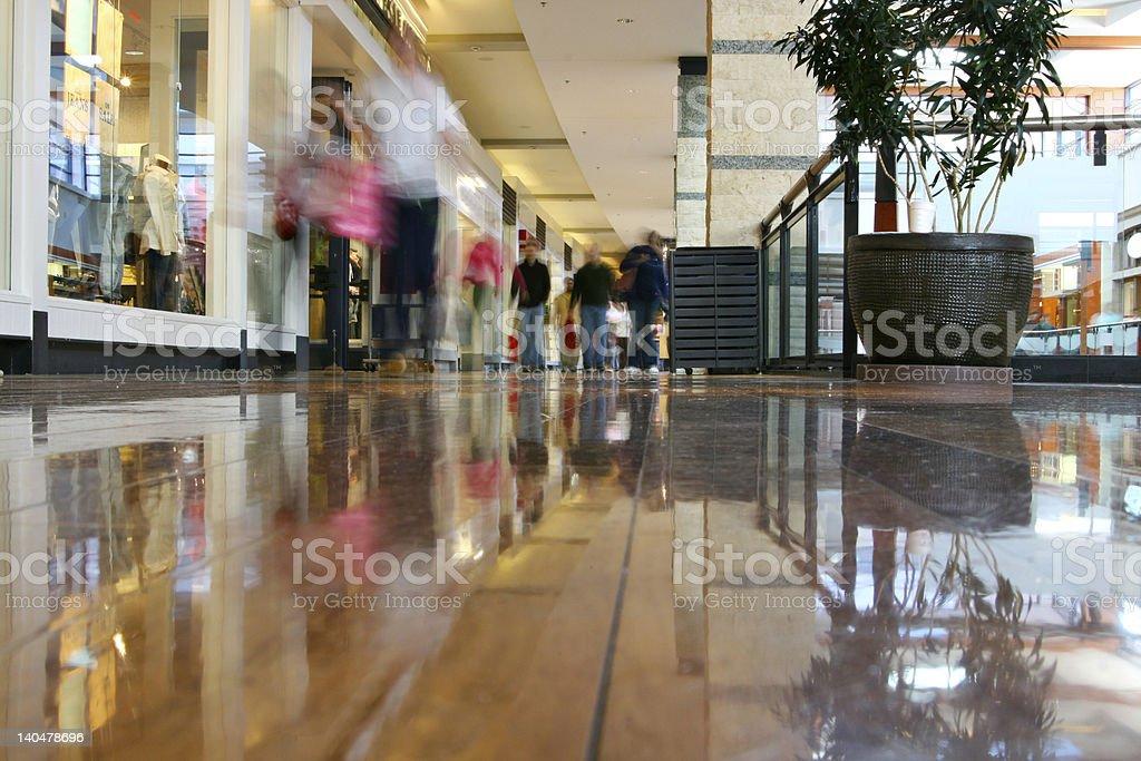 Mall shopping royalty-free stock photo