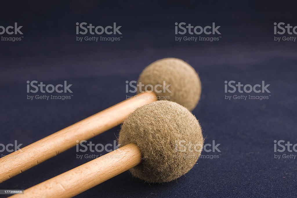 Mallet drum sticks stock photo